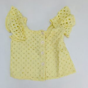 Topje shortsleeve yellow Zara 5jr / 110