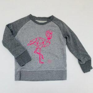 Sweater flamingo Grey kids clothing 3-4jr / 98/104