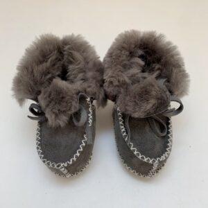 Booties grijze teddy Petit Filippe S 11,5-12,5cm