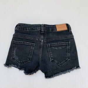 Short ripped black denim Zara 5jr / 110