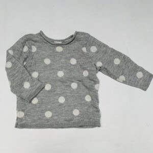 Trui tricot dots H&M 4-6m / 68