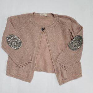 Gilet knitwear pailletjes op elleboog Babe & Tess 3jr