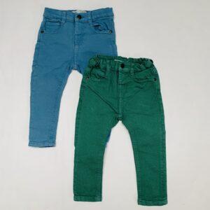2 x aanpasbare skinny broek Zara 12-18m / 86