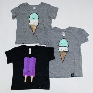 3 x t-shirt icecream Whistle & flute 2 x 12-18M, 1x2jr