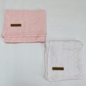 2 x swaddle doeken roze Little Dutch 70cm