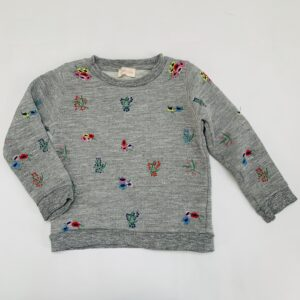 Sweater plants embroidery Simple Kids 6jr