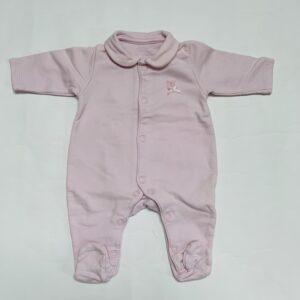 Pyjama met voetjes pink First 50