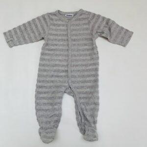 Onesie grey stripes Noukie's 3m / 62