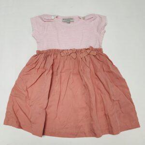 Kleedje shortsleeve duo pink La Buissonnière 18m