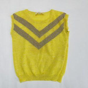 Top sleeveless knit yellow Simple Kids 3jr