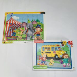 Puzzel off to school 20st Fisher Price + puzzel circus 35st
