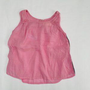 Top sleeveless pink met glitterstreep op de zijkant Simple Kids 3jr