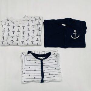 3 x onesie H&M 1,5jr – 2jr / 92