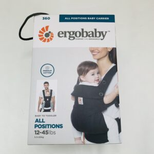 Draagzak 360 all positions pure black Ergobaby 5-20kg