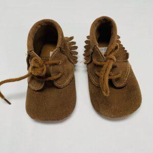 Schoentjes cognac Little Shoes 6-12m