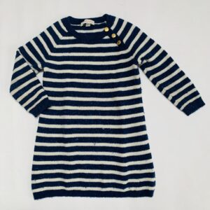 Kleedje tricot blue stripes Simple Kids 3jr