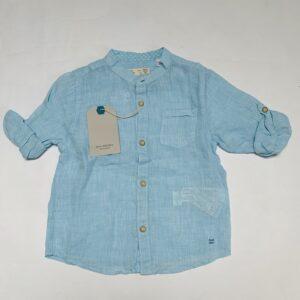 Hemdje lichtblauw linnen look Zara 18-24m / 92