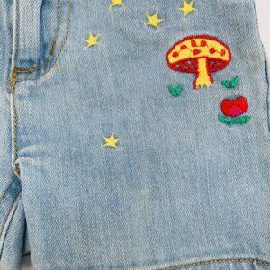 Short denim verstelbaar embroidery Stella Mccartney 3jr