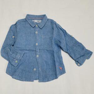 Hemd ruitjes blauw Zara 12-18m / 86