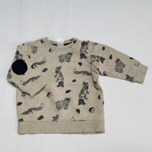 Sweater forest animals H&M 6-9m / 74