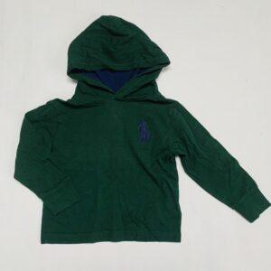 Longsleeve met kap groen Ralph Lauren 2jr / 90