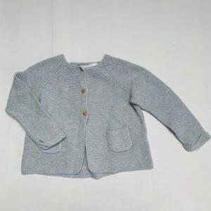 Gilet tricot lichtblauw Zara 18-24m / 92