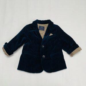 Blazer fluweel donkerblauw Zara 9-12m / 80