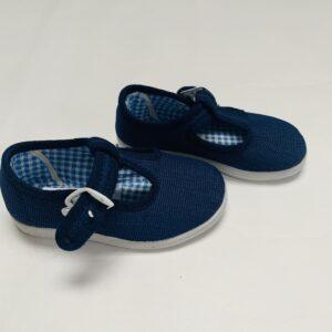 Schoentjes met gesp donkerblauw De la Torre maat 21