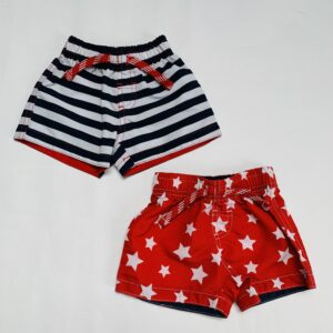 2 x zwemshort Little Rebels 3-6m