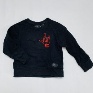 Sweater I love you Grey Kids Clothing 2-3jr
