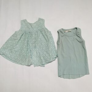 Blouse + tanktop mint 1+ in the family 18m