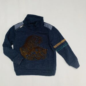 Sweater fluwelen logo IKKS 5jr / 108