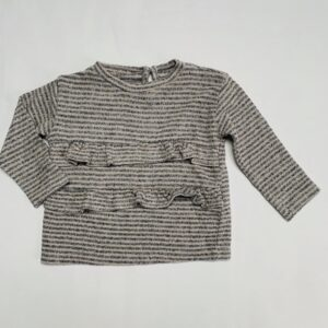 Truitje frill stripes Zara 6-9m / 74