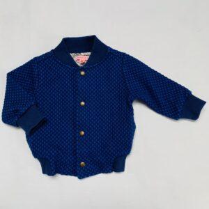 Bomber jacket reliëf blauw Kiekeboe 74