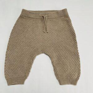 Broekje tricot lichtbruin H&M conscious 2-4m / 62