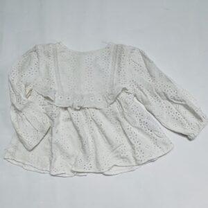 Blouse longsleeve kanten look Zara 18-24m / 92