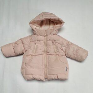 Donsjas gevoerd met fleece pink Zara 9-12m