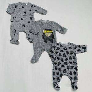 3 x pyjama monstertjes La Redoute 2 x 54 / 1×62