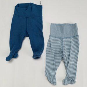 2 x broekje met voetjes H&M 0-1m / 50