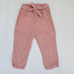Broek lichte streepjes pink P'tit Filou 18m