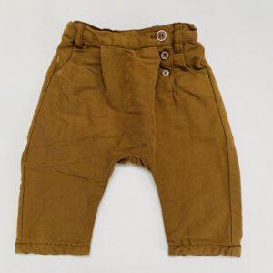Bruine broek schuine knooplijn Zara 3-6m / 68