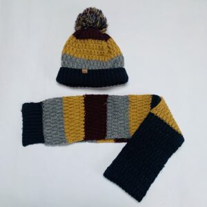 Wintermuts pompom + sjaal tricot JBC 52cm / 2-6jr