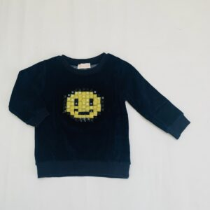 Fluwelen trui smiley Simple Kids 3jr