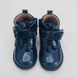 Lakschoentjes donkerblauw met strik Walkey maat 21