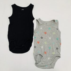 2 x romper sleeveless H&M 4-6m / 68