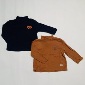2 x longsleeve turtleneck animals Zara 68