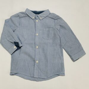 Hemdje linnen look stripes H&M 9-12m / 80
