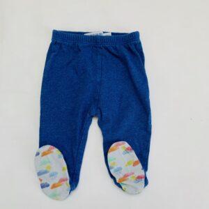 Broekje blauw met voetjes P'tit Filou 0m