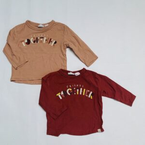 2x longsleeves friends together Zara 3-6m / 68