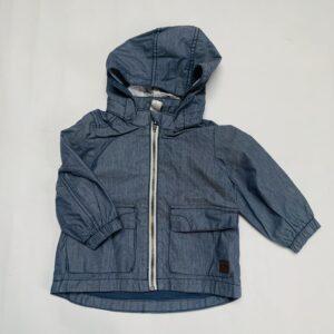 Denimkleurig jasje met kap H&M 9-12m / 80